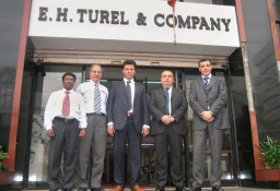 (L-R) B K Mohanty Kumar, Macpi India Director, Viraf E Turel, MD, Turel Group of Companies, Paolo Cartabbia, Managing Director, Luca Mosso, Global Sales Manager and Stefano Bordogna, South Asia Sales Manager of Macpi Group