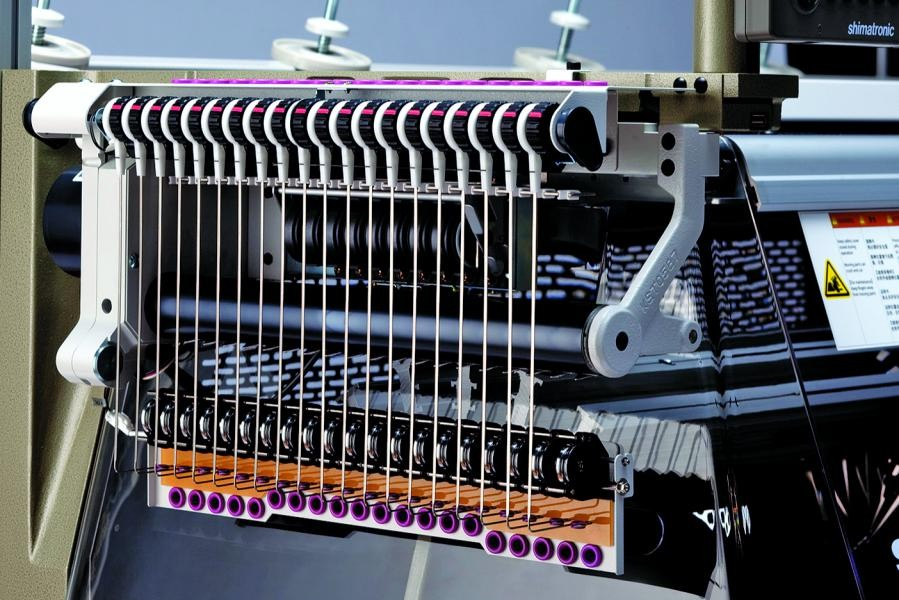 The Digital Stitch Device (DSCS) treats each stitch as digital data and hence is able to control the length and shape of every stitch