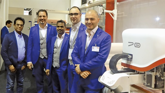 Manik Chowdhury (L), MD of Eastman Technocrafts with Morgan Tecnica team