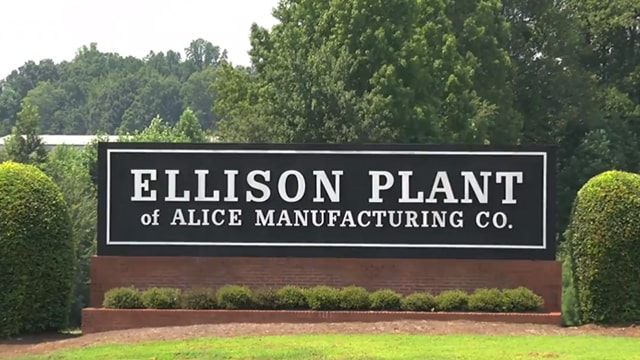 Alice Manufacturing shutting down its 50-year-old Ellison Plant in US