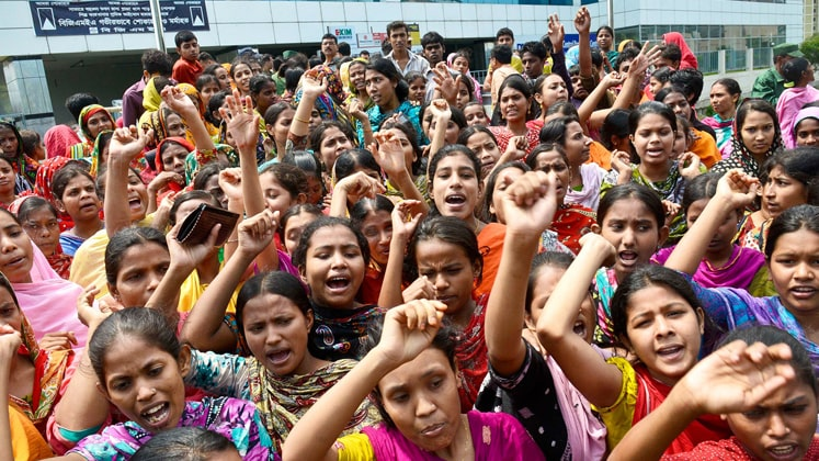 Bangladesh workers' demonstrations halt production in 50 RMG units
